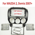 2 Din DVD Painel Stereo para MAZDA 2, Demio 2007 + Fascia Rádio Traço Instalação Montagem Kit Guarnição Quadro Rosto
