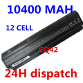 10400MAH 12cells battery notebook laptop batteries FOR HP Compaq MU06 MU09 CQ42 CQ32 G62 G72 G42 593553-001 DM4 593554-001