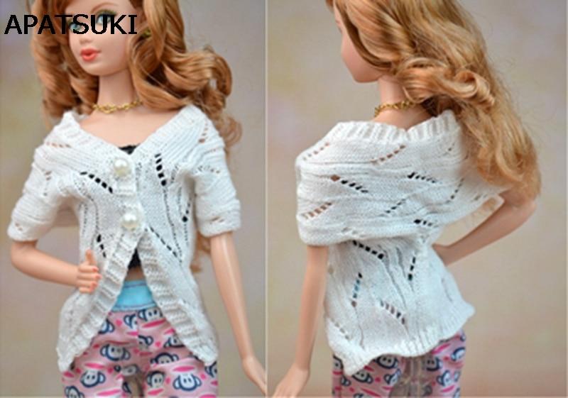 Ručno izrađena lutka Accesssories Pleteni džemper kaput za Barbie lutka Kuća odijelo Casual Wear Odjeća za 1/6 BJD Lutka