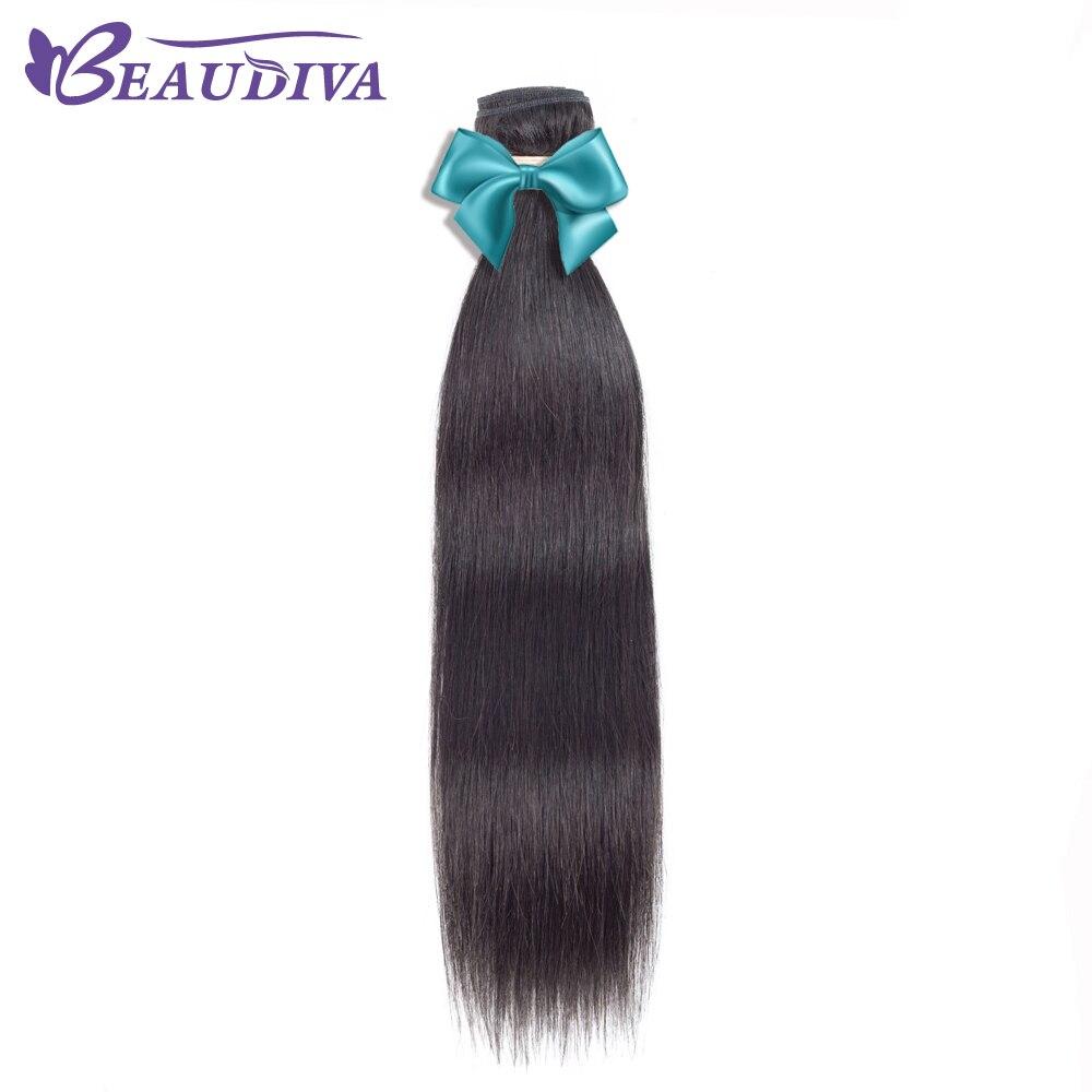 Beaudiva волосы Малайзии Прямых Человеческих Волос Одна деталь пучки волос плетение 8-26 дюймов натуральный Цвет Бесплатная доставка- волосы remy