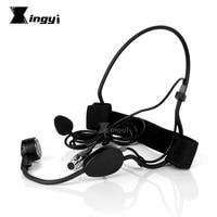 Mini XLR 3 Pins TA3F Dynamic Headworn Microphone Headset Mic For SAMSON AR300 CB288 CR288 WH20TQG Wireless Beltpack Transmitter
