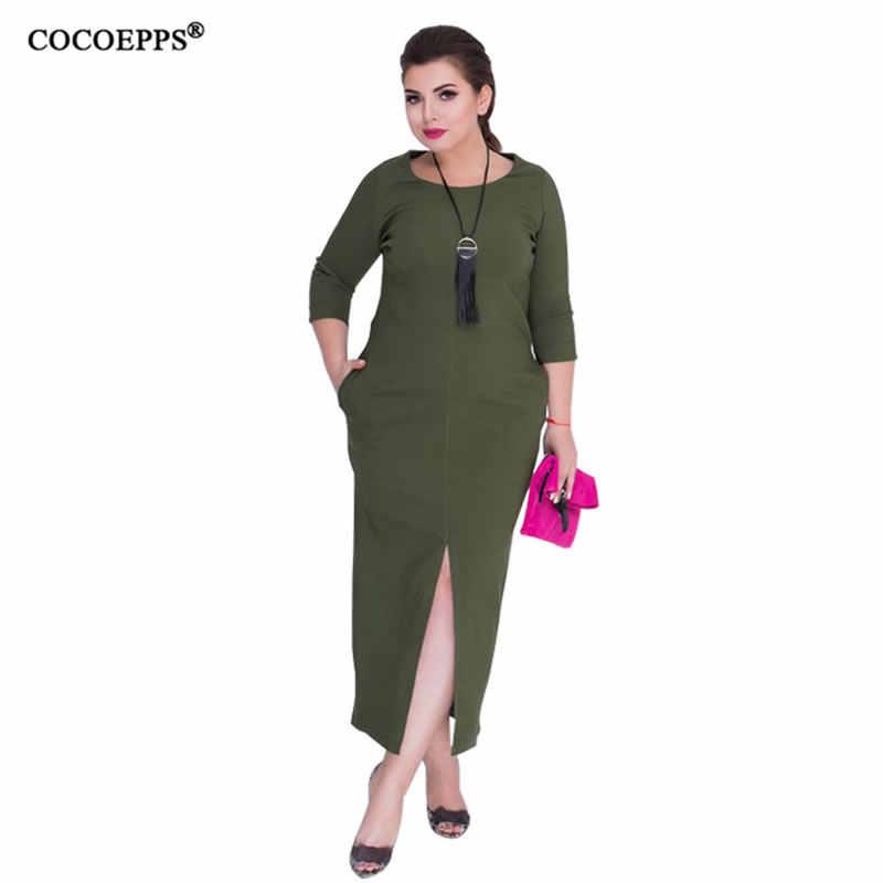 COCOEPPS 2019 новый плюс Размеры облегающее платье 5xl 6xl БОЛЬШОЙ Размеры женское платье элегантное платье Одежда большого размера пикантные вечерние одноцветное платье