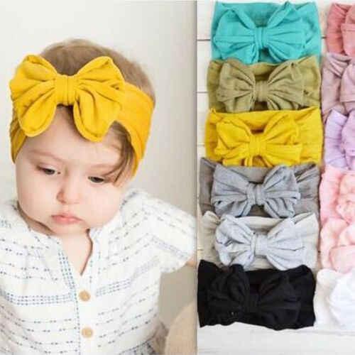 2019 جديد أزياء لطيف الوليد الرضع طفل رضيع و فتاة كبيرة القوس Hairband العصابة أغطية الرأس إكسسوارات الشعر