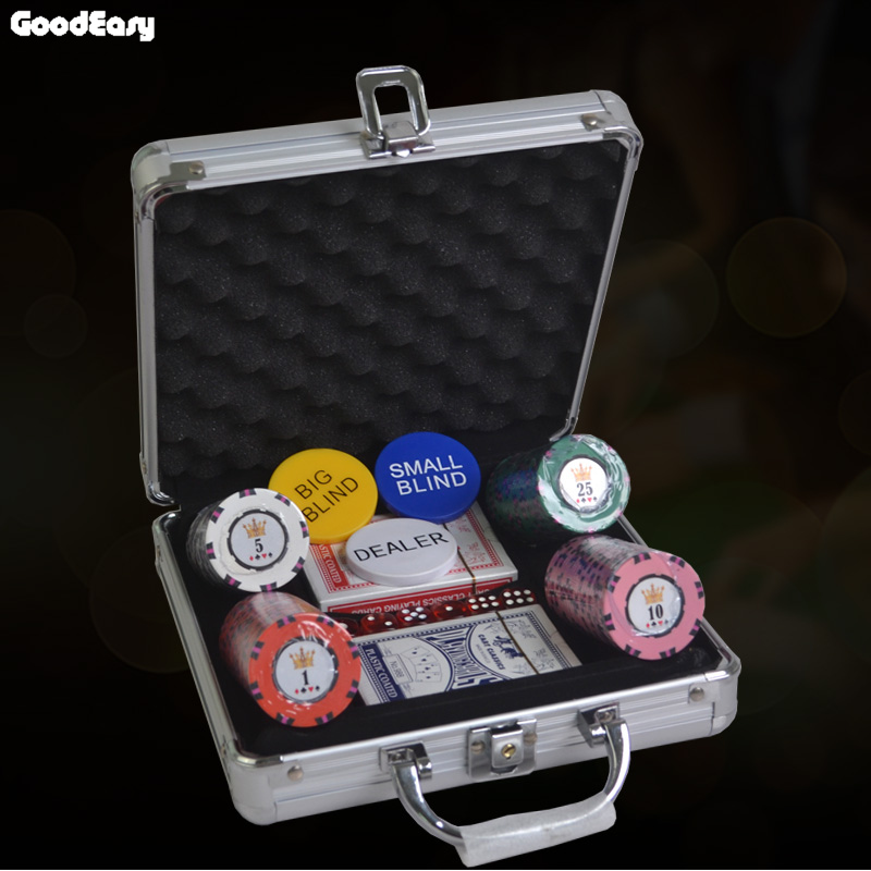 100pcs Three-color Entertainment Texas Holdem Clay with Iron Poker Chips Upscale Set Pokerstars 16.5g Color Cheap Chips