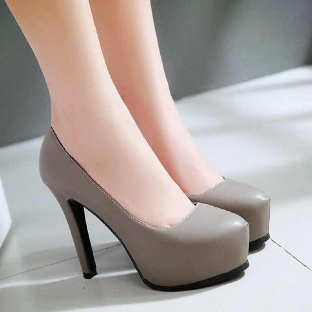 Size 4.5~10.5 New Fashion Womens Ladies Stiletto High Heels Office Dress shoes Work Court Platform Pumps For Women 5 Color