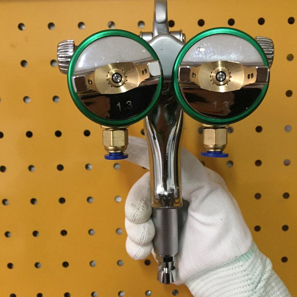 SAT1189 Double Head Spray Gun High Pressure Nano Plating Paint Chrome Silver Mirror Chrome Paint Gun