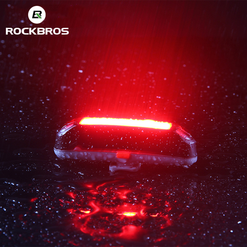 ROCKBROS Bike Rear Light Waterproof 6 Light Modes Bicycle Red LED Lights USB Rechargeable Cycling MTB Seatpost Safety Flashlight