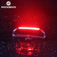 ROCKBROS Bike tylne światło wodoodporne 6 trybów światła rowerowe czerwone światła LED USB akumulator kolarstwo MTB sztyca latarka bezpieczeństwa w Oświetlenie rowerowe od Sport i rozrywka na
