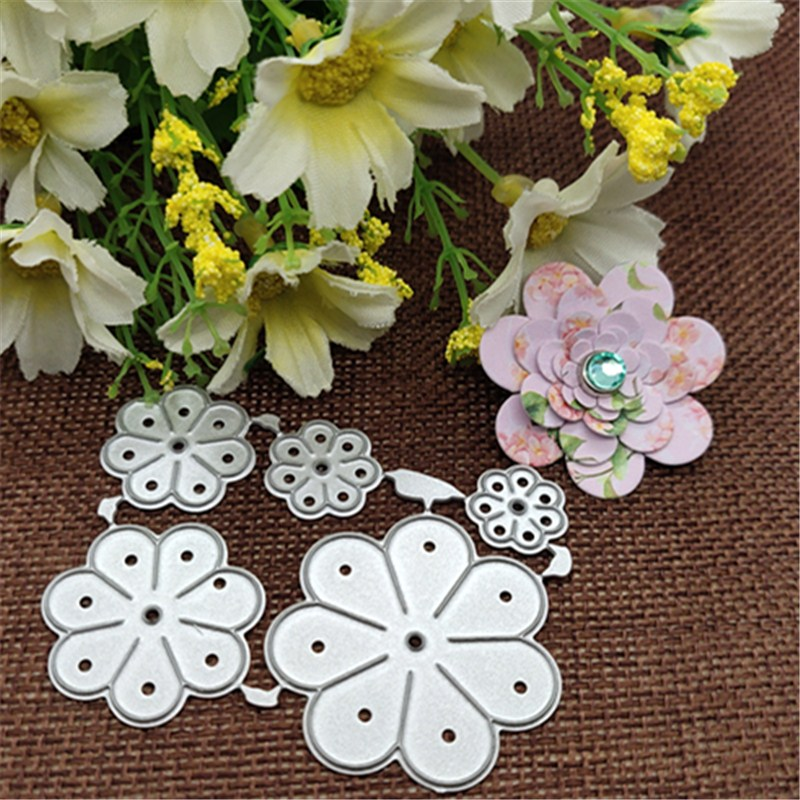 5pcs/set Flowers Leaves Metal Cutting Diestencils For DIY Scrapbooking Decorative Embossing Handcraft Die Cutting Template