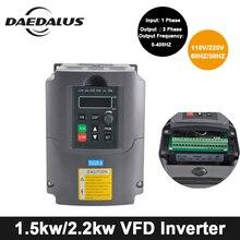 2.2KW/1.5KW ЧПУ шпинделя двигатель VFD переменной частоты драйвер инвертор 110 В в/220 В в преобразователь частоты Инвертор для гравер машины