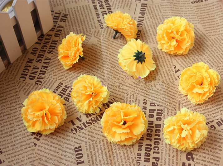 5cm Artificial Carnations Decorative Flowersilk Flower Lilac