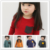 Baby Girl T Shirt Spring Style 100 Cotton New Arrival Children Clothing Yellow Long Sleeve High