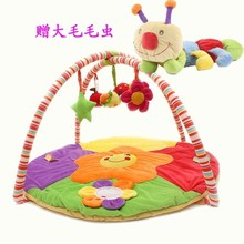 Free shiping new Baby mat educational toys soft bedtoy  velvet play games blanket crawling blanket big caterpillar fitness rack