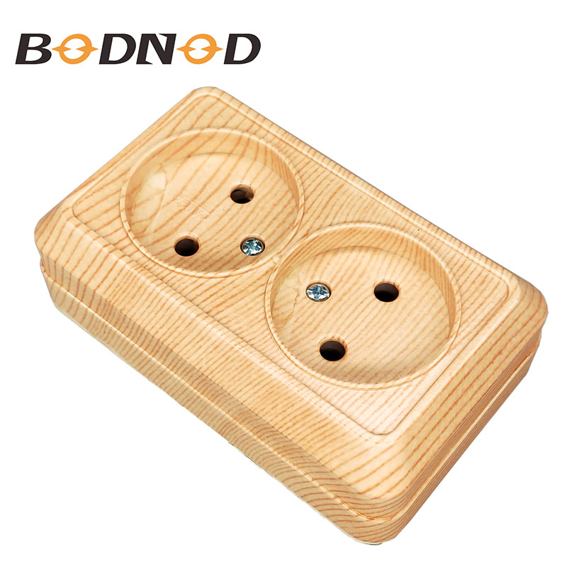 2018 Pop Socket New DOUBLE SOCKET without earth Wall Socket 250V 16A Power Wall Mount Charger wood color legrand Schneider2018 Pop Socket New DOUBLE SOCKET without earth Wall Socket 250V 16A Power Wall Mount Charger wood color legrand Schneider