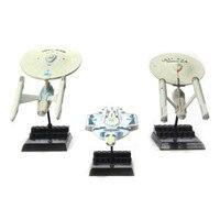 3pcs Set Star Trek Action Figure Toys Collection Spaceship Model Christmas Gift 10cm