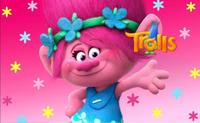 Trolls Pink Poppy Princess colorful Flowers gril pink backdrop Vinyl cloth High quality Computer printed wall Background
