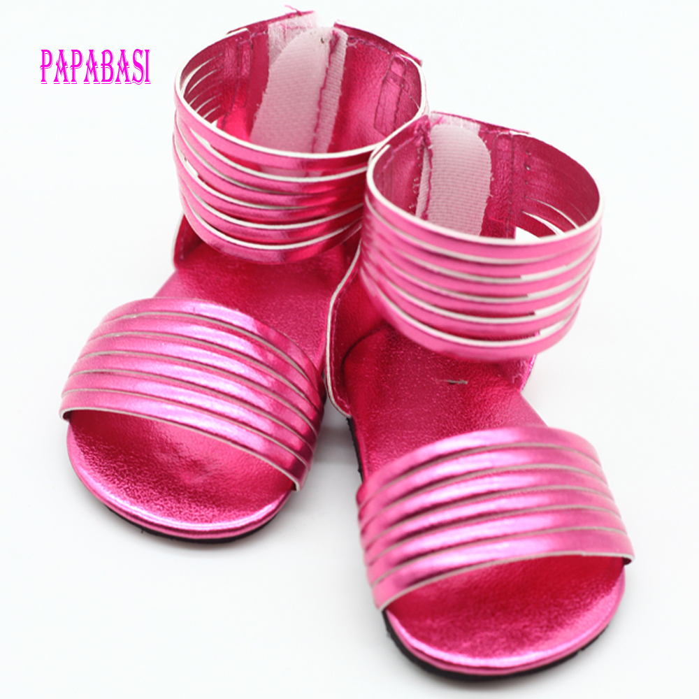 1 Pair doll shoes for 18 inch doll 43cm dolls party daily shoes accessor LA