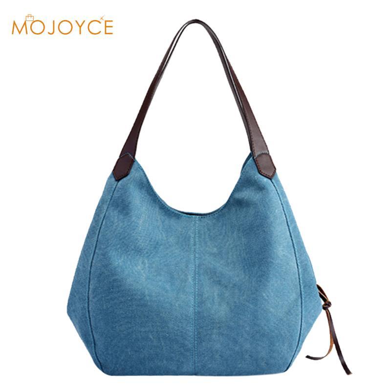 Women Canvas Handbags Ladies Top handle Bags Soft Casual Totes Hobos Sling Shoulder Bags for