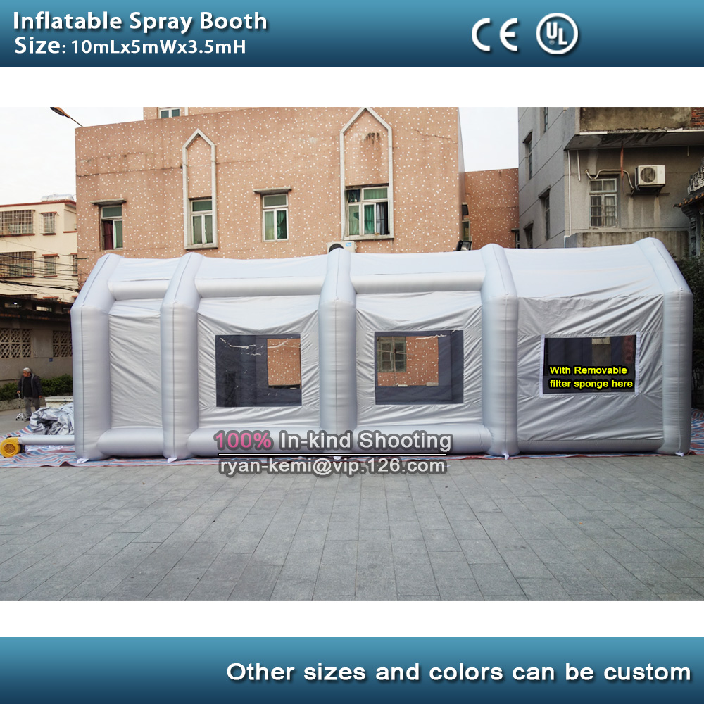 10mLx5mWx3.5mH inflatable spray booth inflatable paint booth <font><b>tent</b></font> inflatable <font><b>car</b></font> <font><b>garage</b></font> booth cover marquee for sale image