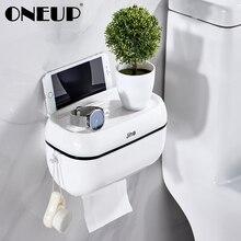 ONEUP держатели для туалетной бумаги настенный ящик для хранения телефона тканевая Полка Ванная комната Водонепроницаемый тканевый ящик портативный держатель туалетной бумаги