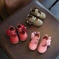 Couro palmilha 11-13 cm primavera bebê flor shoes princesa meninas suave inferior shoes