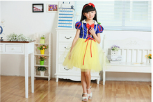 2016 Kids Wedding Dresses for Girls Snow White Girl Dress Summer  Baby Girl Party Cosplay Dresses Princess Girls Clothes цены онлайн