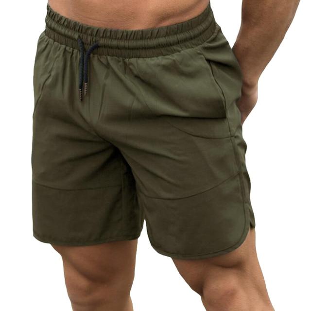 2018 ejército pantalones cortos de hombre Pantalones cortos-pantorrilla casual  pantalón de entrenamiento marca deportivo 5d822a78e374