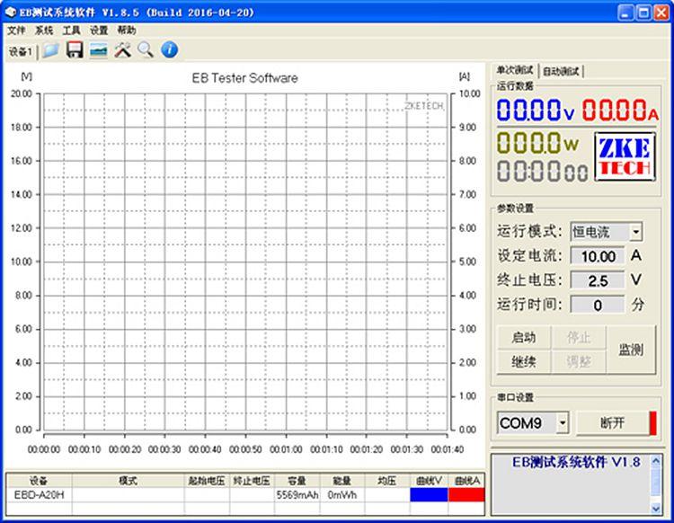 EBD-A20H батарея ёмкость тестер Электронные нагрузки мощность тестер Измеритель расхода 20A
