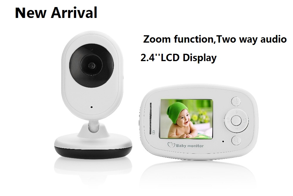 New Arrival 2.4GHz Wireless Baby Monitor SP820 Infant Babysitter Baby Sleep Monitor Baby Camera Night Vision Zoom in Display