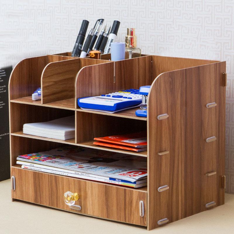 cajones de madera caja de maquillaje organizador de escritorio caja de cosmticos de mltiples capas