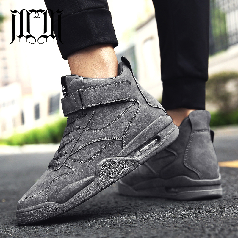 MumuEli Air Cushion Green Gray Black 2019 High Top Quality Shoes Men Casual Designer Fashion Luxury Winter Male Sneakers K618 zapatillas de moda 2019 hombre