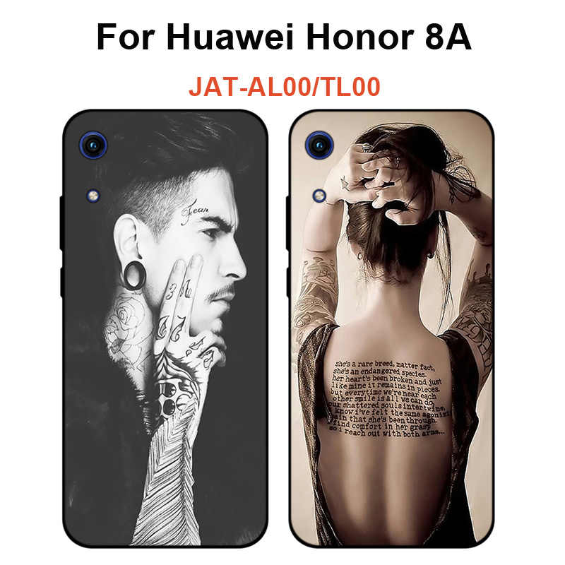 Beauty Case For Huawei Honor 8A Soft Silicone Back Cover Phone Case For Honor 8A 8 A JAT-AL00 TL00 protective Phone Case Shell