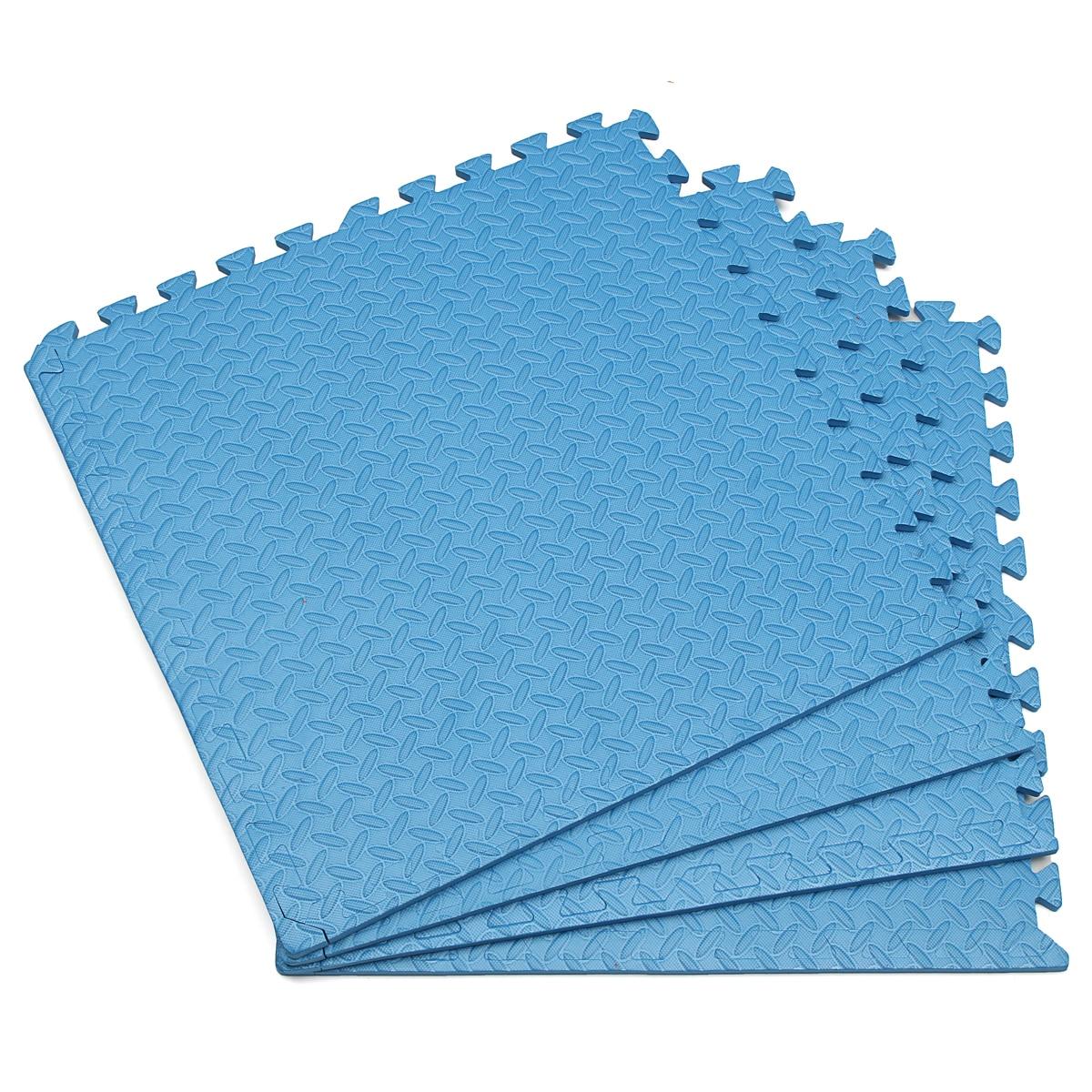 23.6x23.6x0.47 Inch Baby EVA Foam Play Puzzle Mat Interlocking Exercise Tiles Floor Carpet Rug for Kid