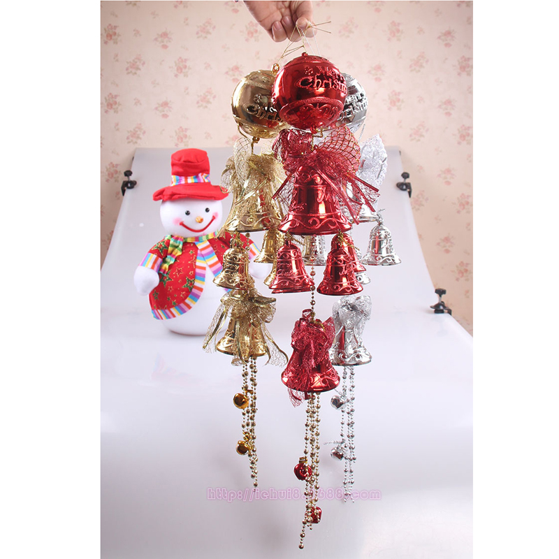 New 65cm Christmas Bells Decoration Christmas Tree decoration gifts gold to replace the door hung a large Christmas Jingle Bells