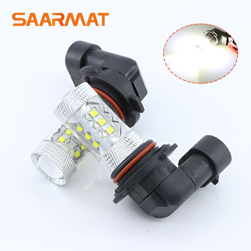 Pair 80w 9006 HB4 LED Fog Light DRL Daytime Running Driving Lamp Bulb For Lexus ES350 LS460 LS600h RX350 GS RX 300 330 IS250