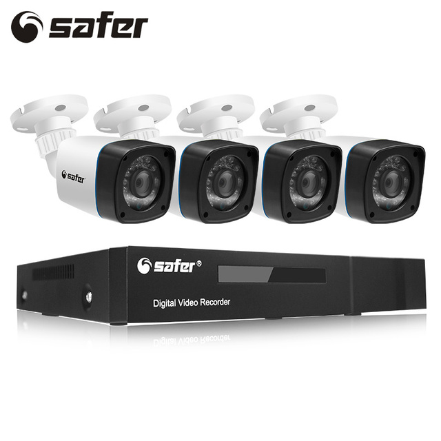 SAFER Home Surveillance 4CH AHD 5 IN 1 Security DVR System HDMI ...
