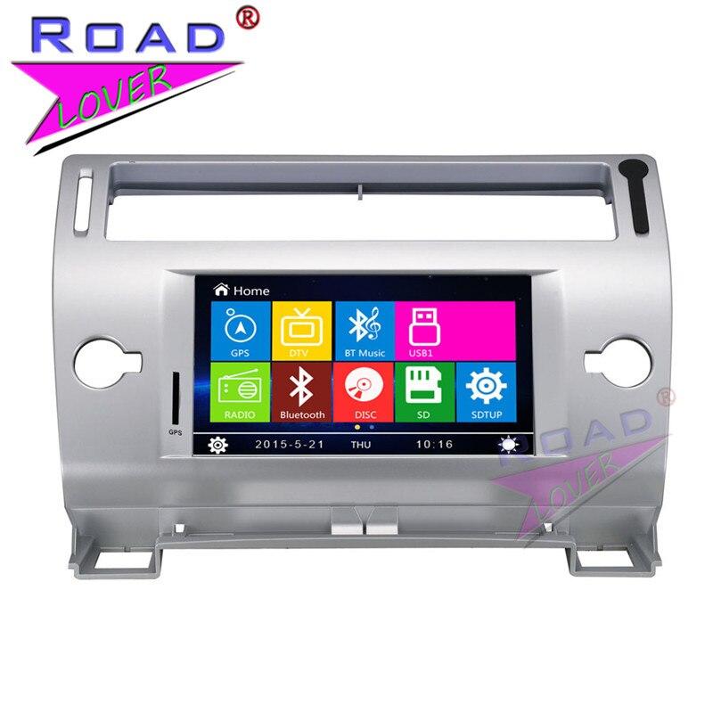 TOPNAVI Wince 6.0 7Inch Double Din Car Multimedia DVD Auto Player For Citroen <font><b>C4</b></font> Stereo GPS Navigation Audio TFT Touch FM USB