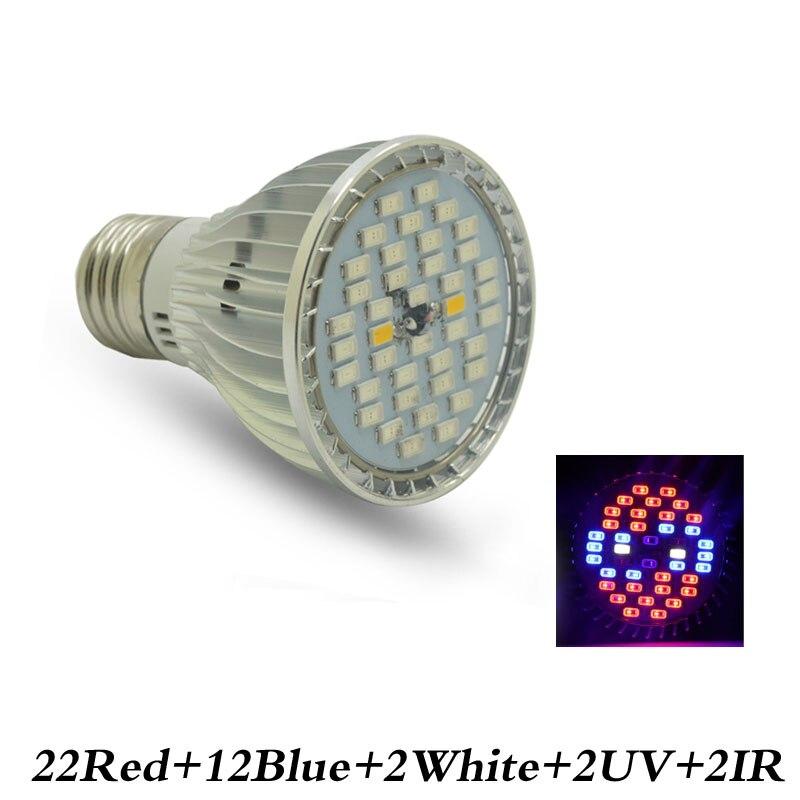 1pcs Grow Led Full Spectrum 40W E27 Led grow light Spot Lamp UV IR Red Blue White For Grow Box Flowering Plants цена