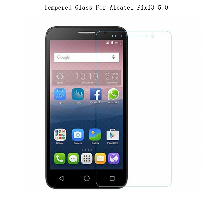 Galleria fotografica For Alcatel Pixi3 5.0 Tempered Glass 9H 2.5D Premium Screen Protector Film For Alcatel One Touch Pixi 3 5.0 5.0