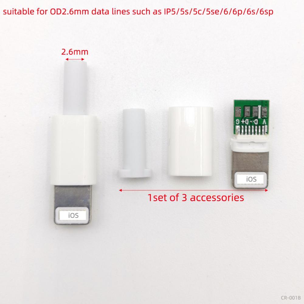 10 комплектов, тип соединения проводов, IOS, USB штекер для iphone с чипом, разъем платы, сделай сам зарядка, линейный штекер, кабель, адаптер, запчас...