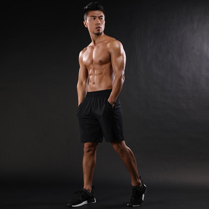 2018 Herren Shorts Netz Patchwork Atmungs Workout Fitness-studios Shorts Trocknen Schnell Elastische Shorts Schwarz Grau Um Zu Helfen, Fettiges Essen Zu Verdauen