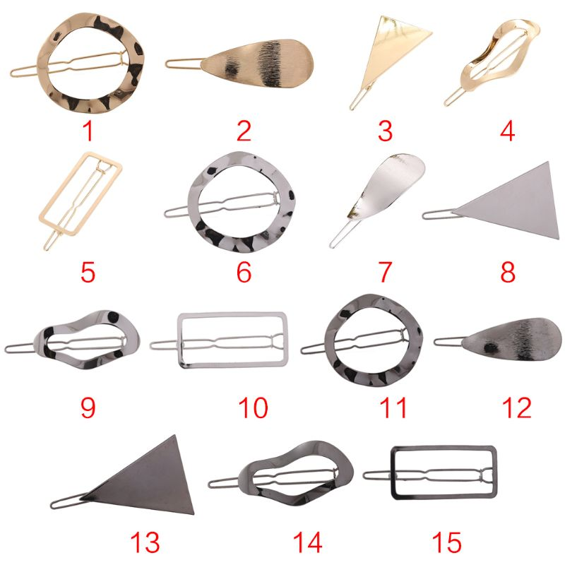 15 Styles Minimalist Bobby Pins Geometric Triangle Wavy Shape Hair Clips Polished Metallic Glitter Reflective Women Barrettes in Women 39 s Hair Accessories from Apparel Accessories