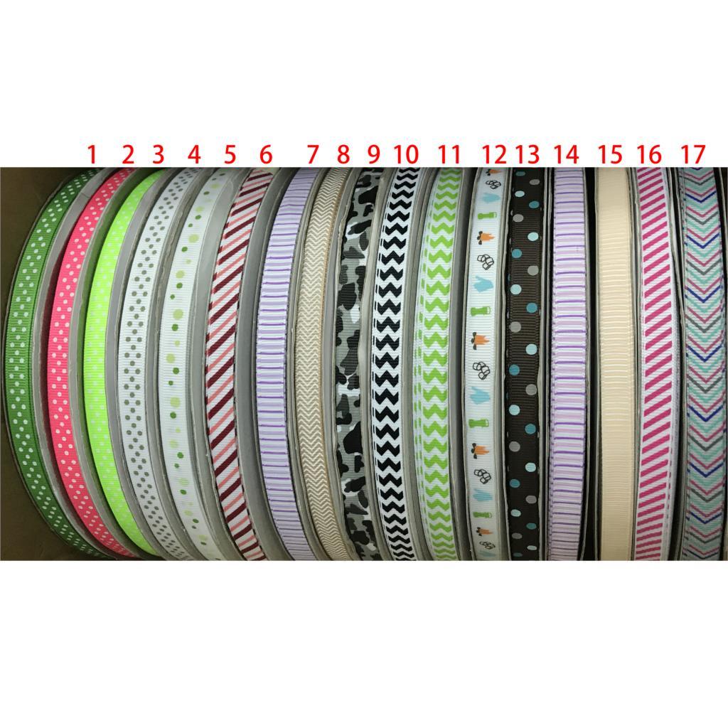 """3 yards Rainbow stripe printed 7//8/"""" grosgrain ribbon by the yard DIY bow"""