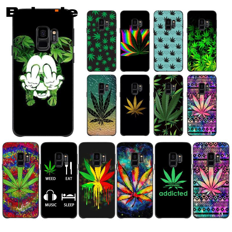 Babaite Phone Case S7-Edge S9-Plus High-Weed Samsung Galaxy Black Cover For S5 Art TPU