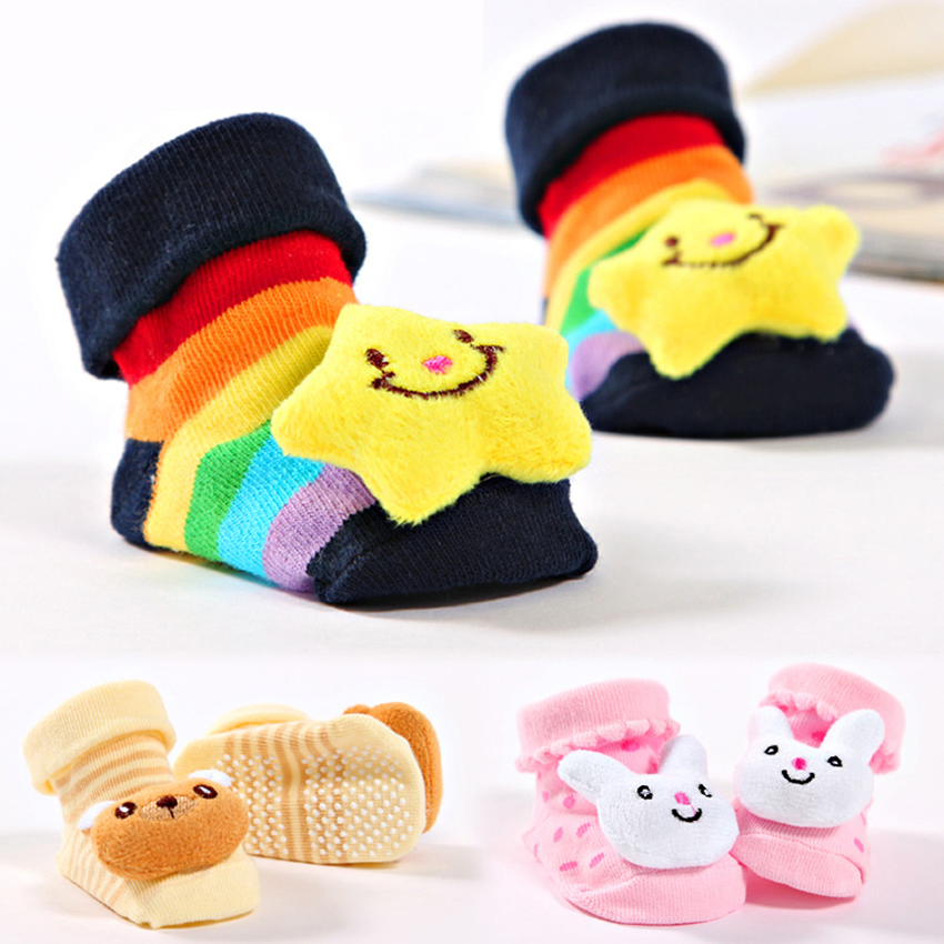 Newborn Toddler Baby Boy Girl Socks Anti Slip Cute Cartoon Skid Resistance Leg Warmers For Newborns Infant Spring Autumn Delicacies Loved By All Mother & Kids Girls' Baby Clothing