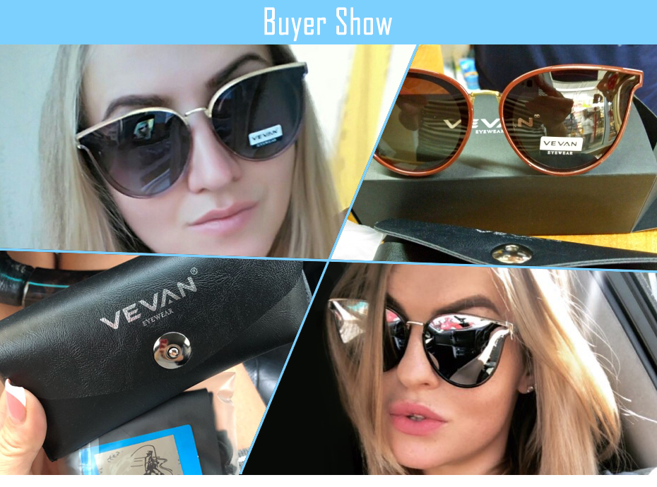 239cd31adf7 VEVAN 2018 High Quality Cat Eye Polarized Sunglasses Women UV400 Sunglass  Mirror Pink Sun Glasses Bees oculos de sol With BoxUSD 13.88 piece