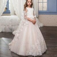 Платье для крещения для маленьких девочек, летнее платье на день рождения бальное платье, платье пачка для девочек свадебная одежда для дет