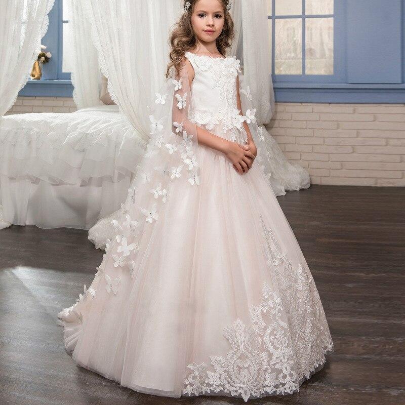 Robe de baptême pour bébé fille Brithday robe d'été robe de bal filles Tutu robe de mariage vêtements 2 3 5 6 7 8 9 12 ans