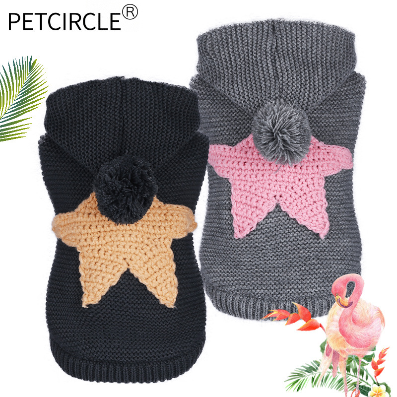 2018 herbst und Winter Haustier Hund Kleidung Pullover Nordic Starfish Jacke Weiche Verdicken Warm Puppy Für Kleine Hund Kleidung Produkte