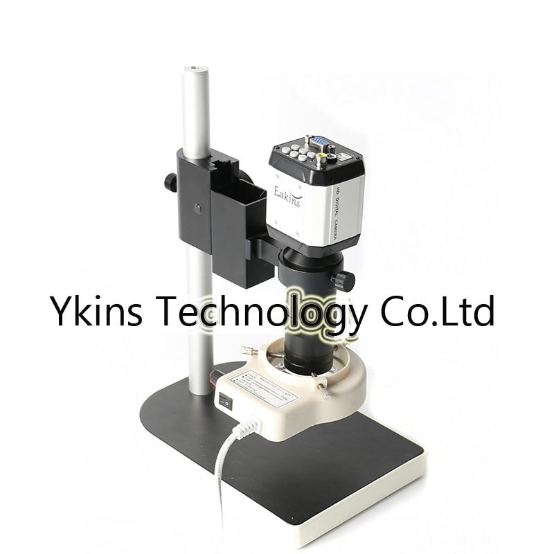 HD 2.0MP VGA USB AV TV Industrial Cross Line Camera Optical Video Microscope Digital Eyepiece +56 LED Light + 100X Lens + Stand